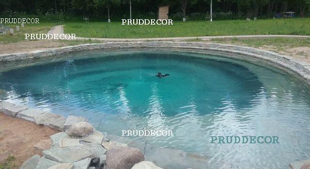 Пруд 10 на 10 м - под ключ. Строительство прудов в Санкт-Петербурге
